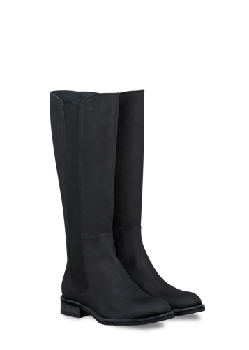 Womens Elasticated Fitting Calf Length Boots Ladies Wide Fit Riding Boots Size