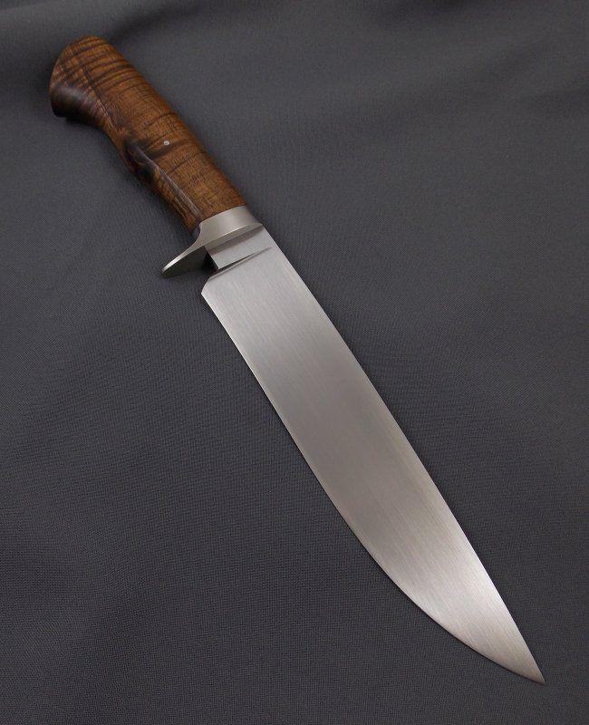 Camp Knife 1080 And Curly Koa Facas Artesanais Facas Armas