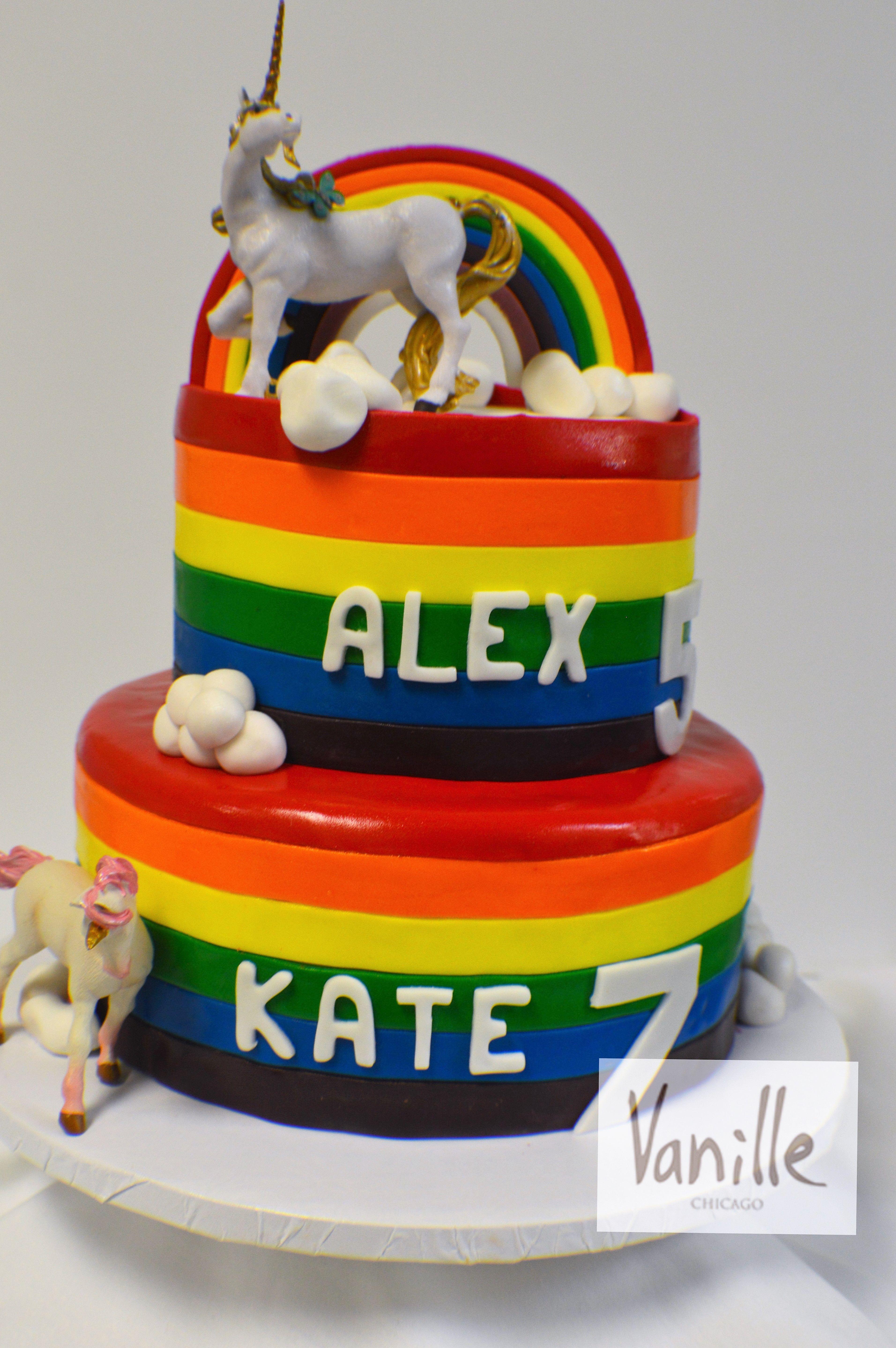 vanille chicago rainbow and unicorn birthday cake vck71 judah s on minnie mouse birthday cakes chicago
