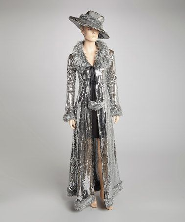 Another great find on #zulily! Silver Sequin Disco Boss Costume Set - Women #zulilyfinds