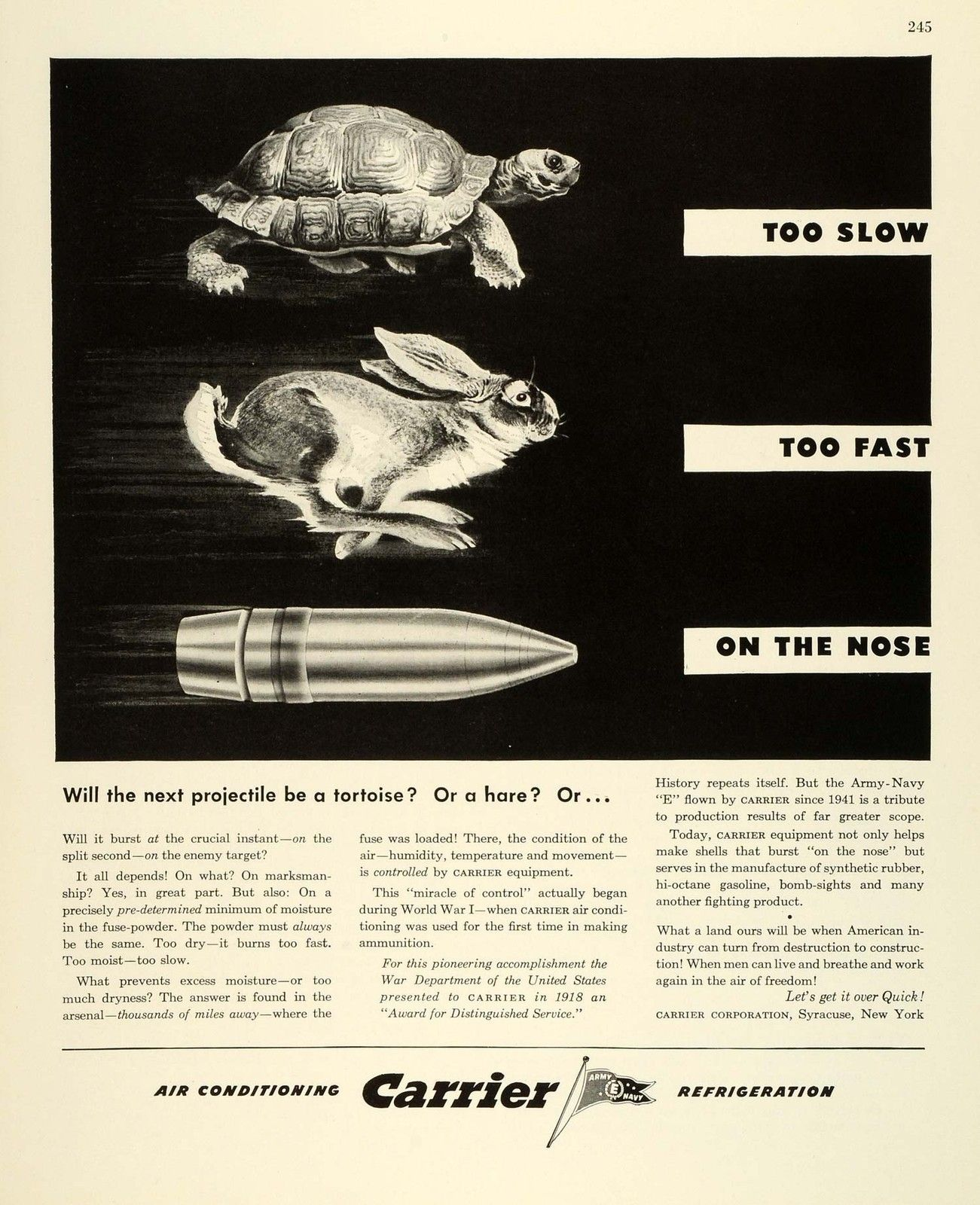 1943 Carrier Ad | Air Conditioners | Refrigerator, Ads