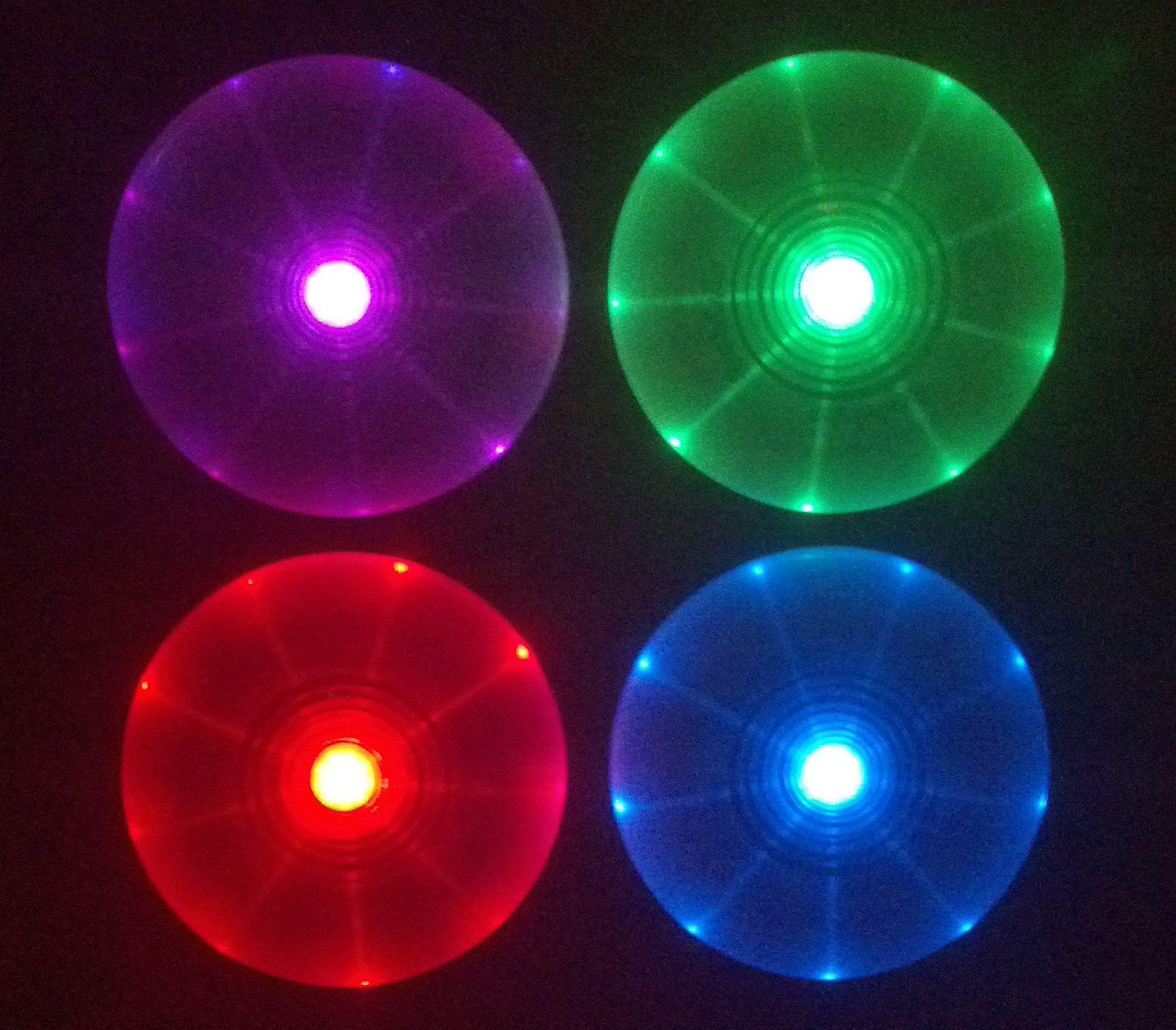 disc ize light frisbee flying gear travel led flashflight nite up best