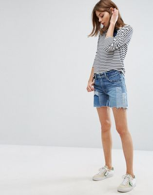 Find and compare Levi s Orange Tab 505C Patchwork Boyfriend Denim Shorts  across the world s leading online stores! 10271e35094dc