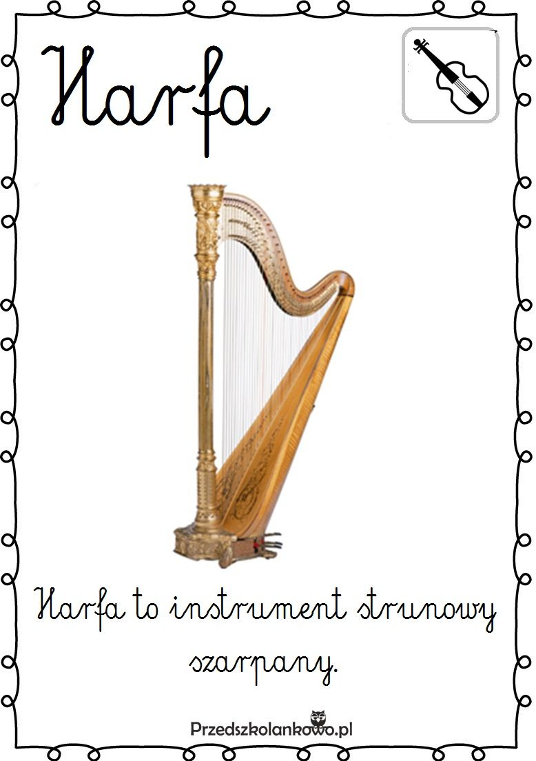 Instrumenty Muzyczne Plansze Zestaw 2 Przedszkolankowo Music Education Montessori Elementary Spanish Language Learning