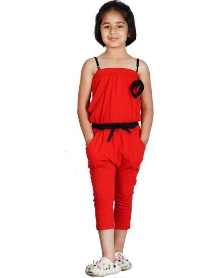 Buy Naughty Ninos Girls Red stretch jumpsuit for 2 to 12 years online  shopping India  e116581d2