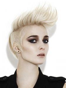 Short Blonde Mohawk Hair Style Mohawk Hairstyles Hair