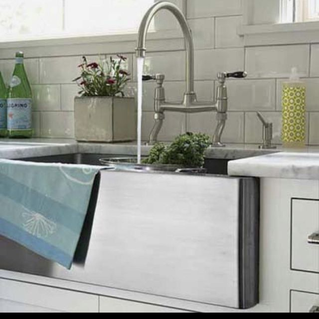 deep stainless steel sink. Waterworks Deep Stainless Steel Farmhouse Sink V