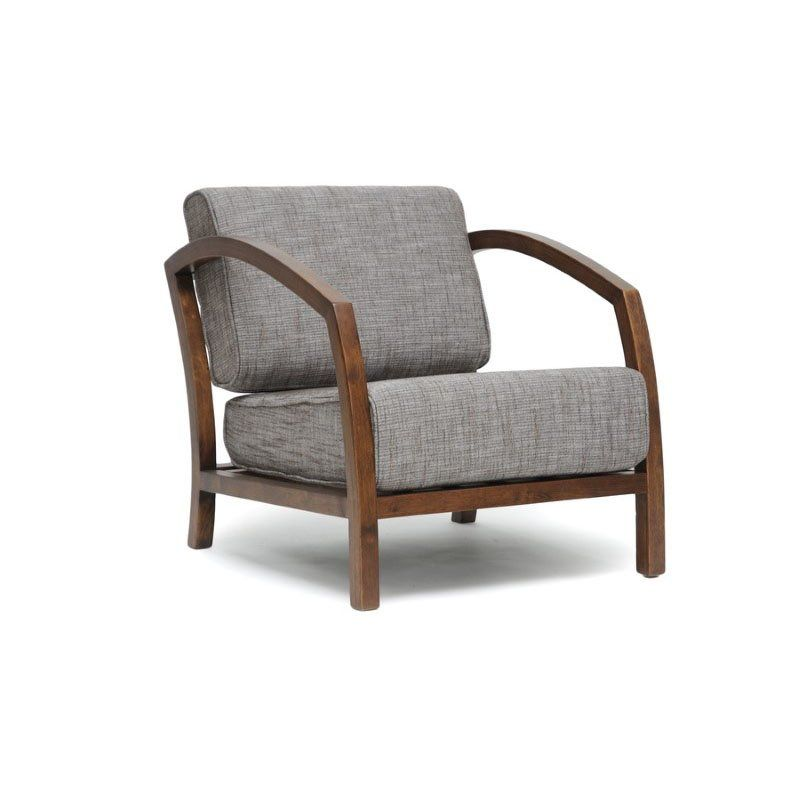 Baxton Studio Velda Brown And Quot Gravel Quot Modern Accent Chair