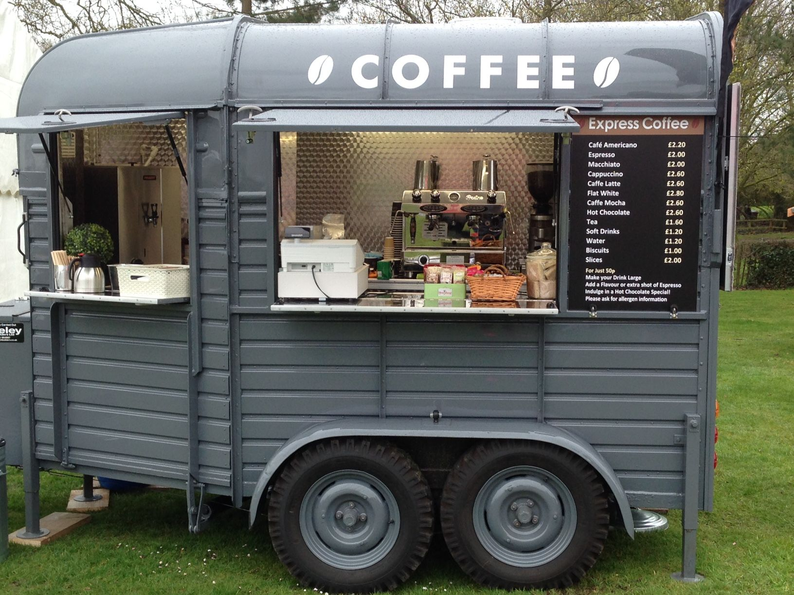 express coffee cars ltd coffee pinterest coffee coffee truck and coffee trailer. Black Bedroom Furniture Sets. Home Design Ideas