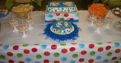 Polka dot 1st boy birthday party theme.  See more first boy birthday and party ideas at one-stop-party-ideas.com