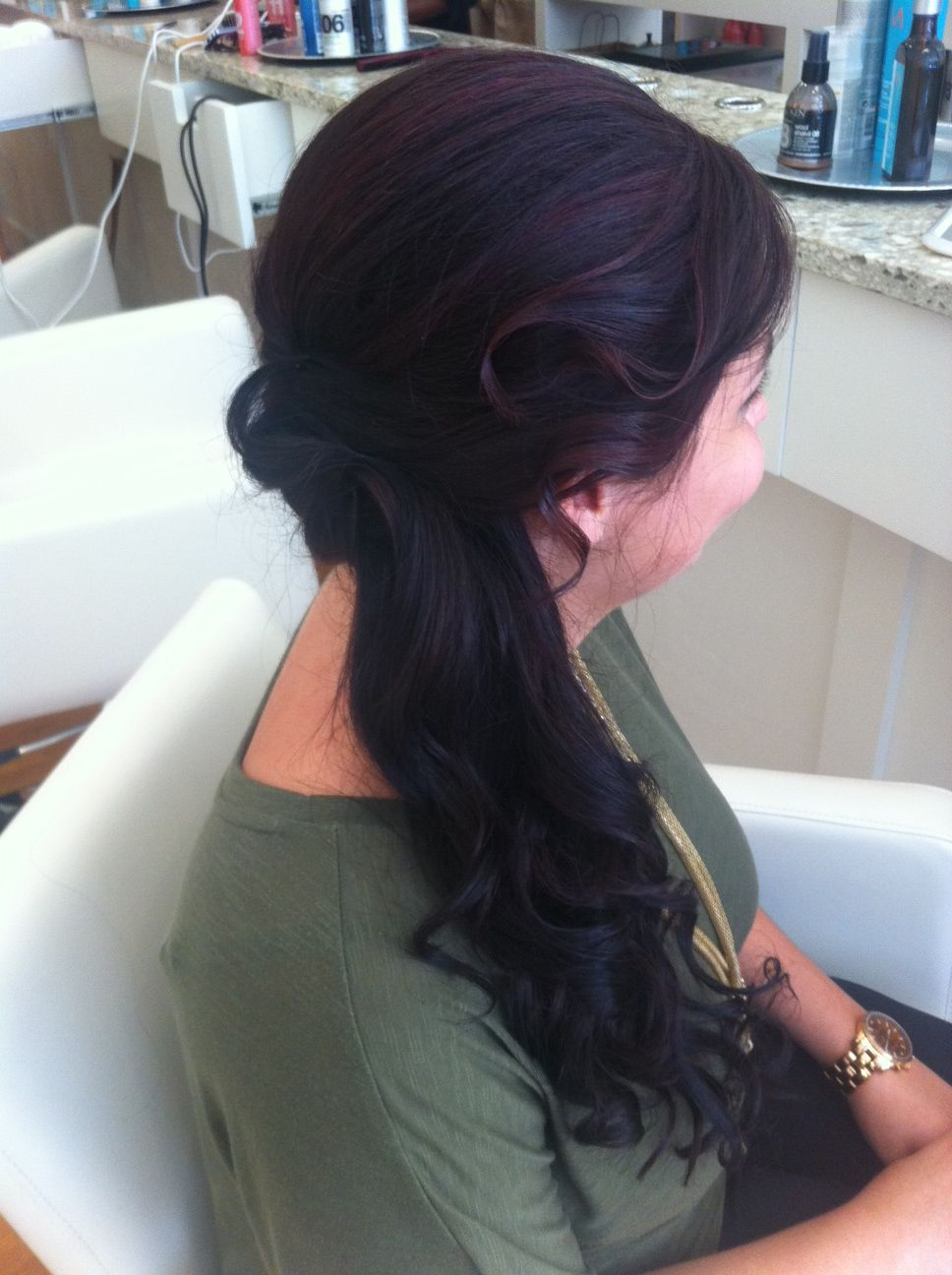 This lovely lady wanted mermaid hair for the wedding she ...