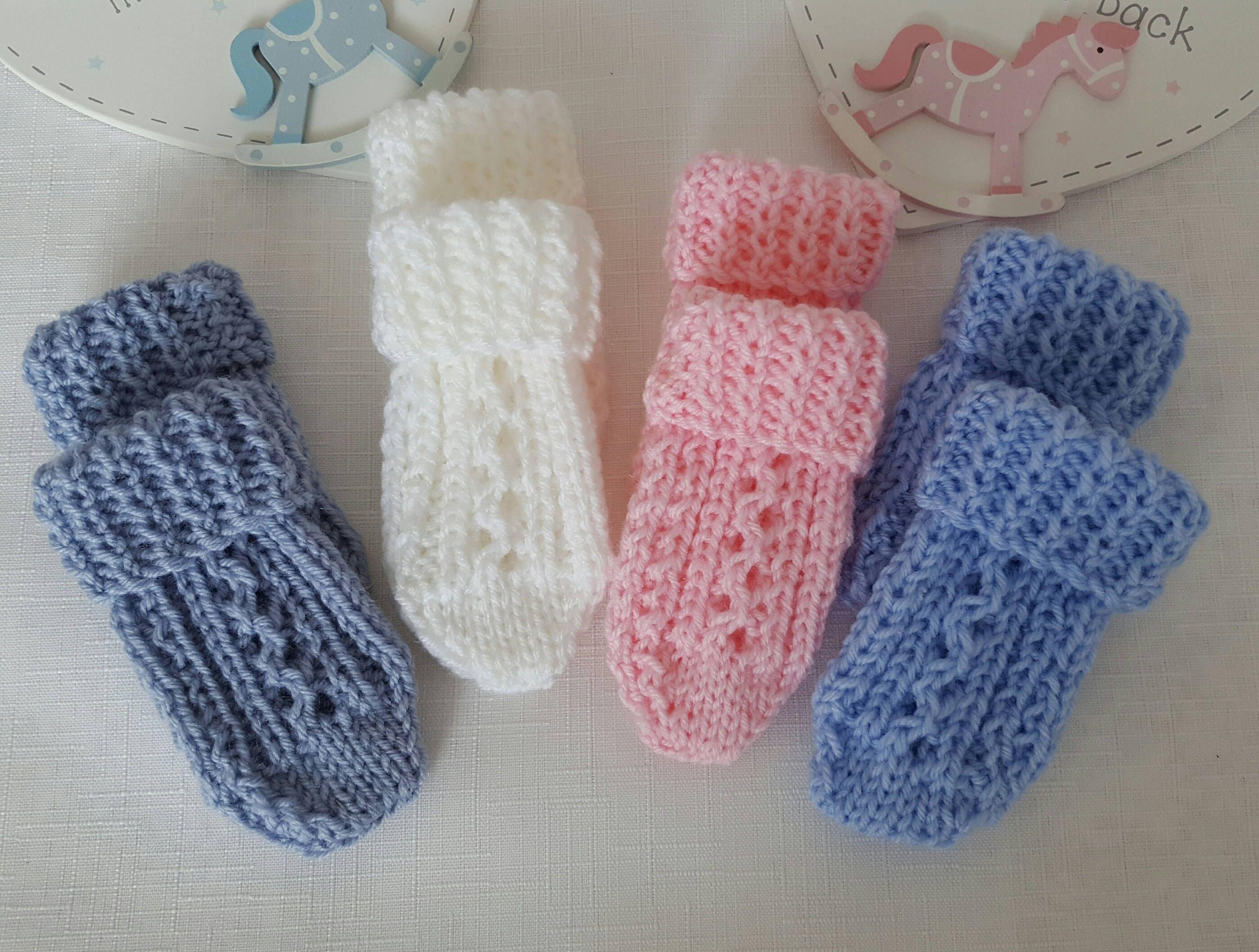 Baby Knitting Pattern Thumbless Mittens Baby Mitten Knitting