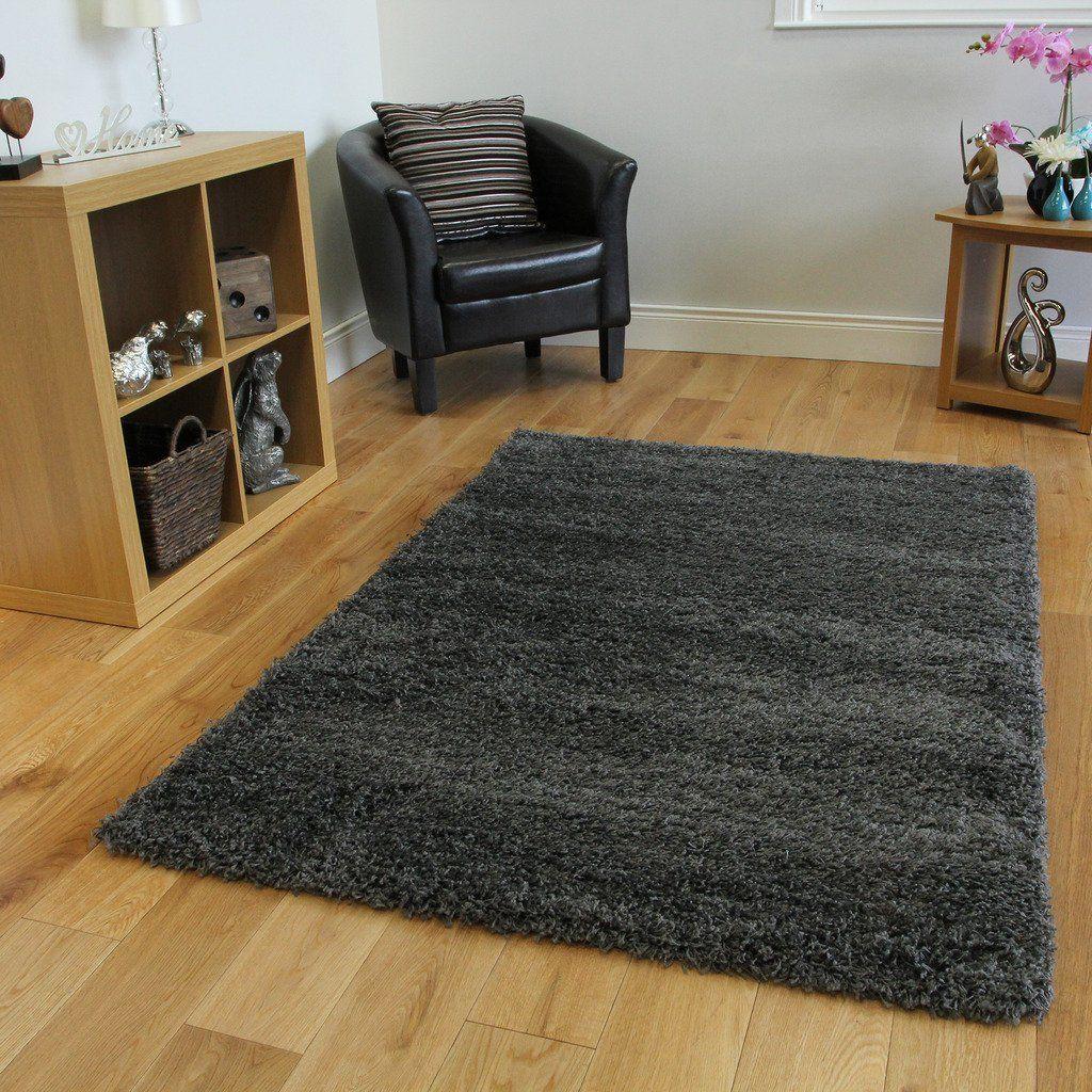 "SUPER SOFT LUXURY GREY SHAGGY RUG 5 SIZES AVAILABLE 60cmx110cm (2ft x 3ft7""): Amazon.co.uk: Kitchen & Home"
