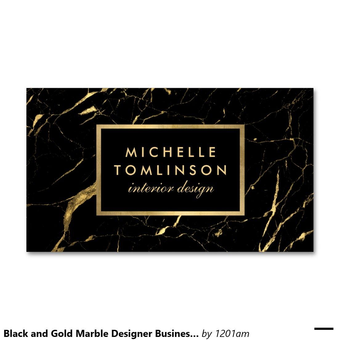 Black and Gold Marble Designer Business Card | Marble interior ...