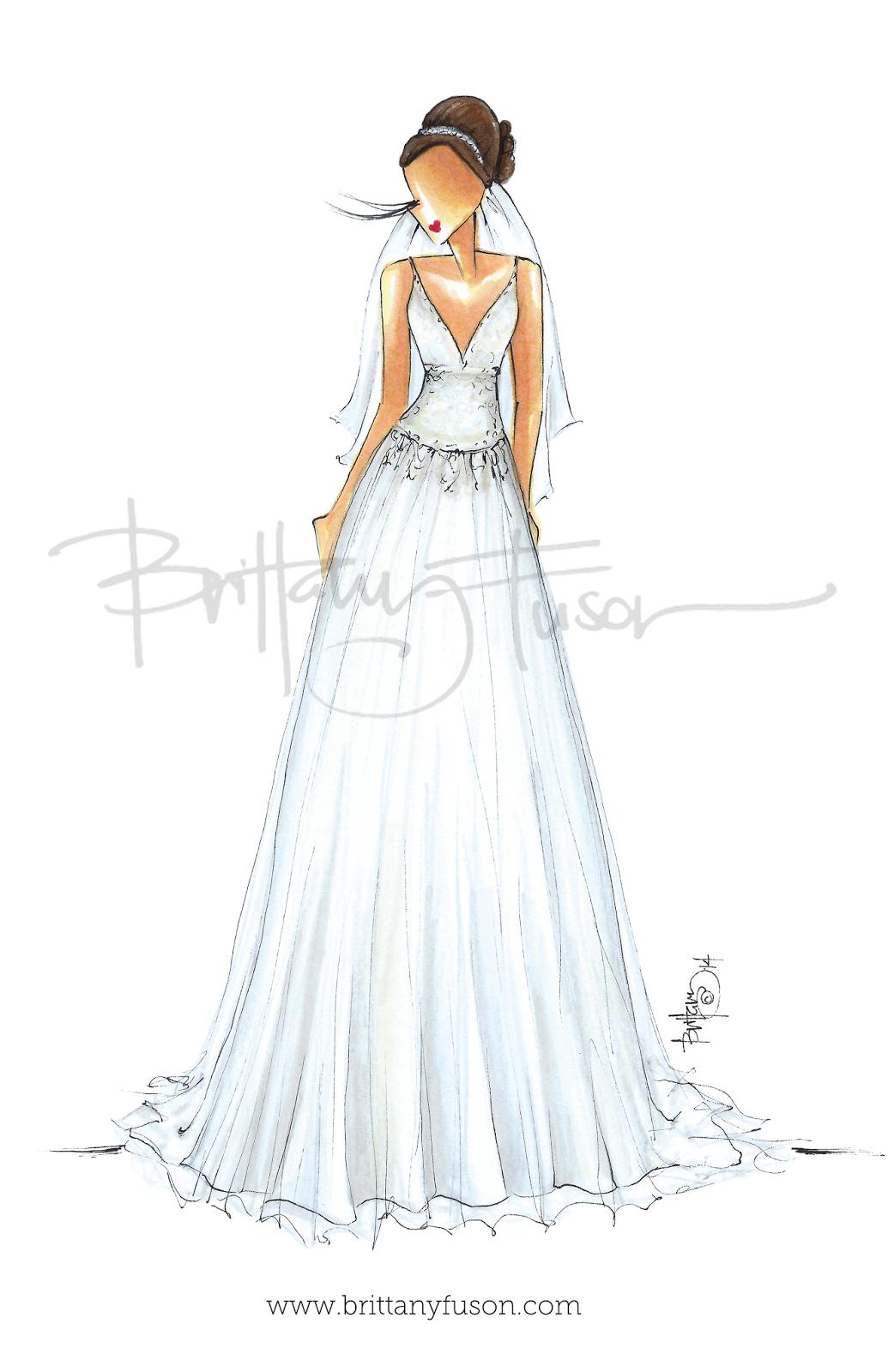 brittanyfuson-custom-bridal-illustration.png 1,035×1,600 pixels