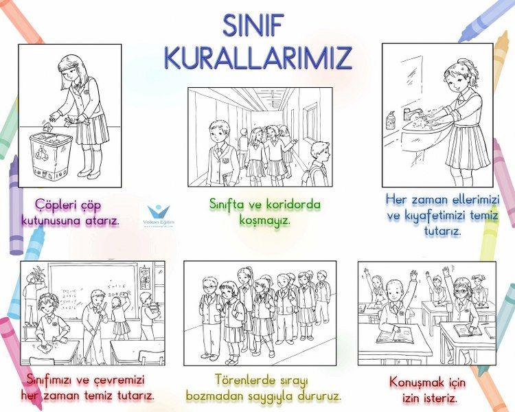 Volkan Eğitim Eğitimde Güzel Uygulamalar Sınıf Kuralları Panosu