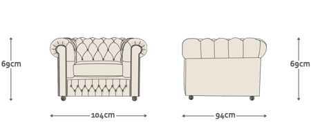 Chesterfield Sofa Dimension Drawing Google Search A1