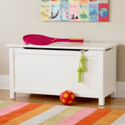 Kids Toy Chests Kids Solid White Toy Box in All Storage & Land of Nod Toy Chest- reminder to myself that I have a new ... Aboutintivar.Com