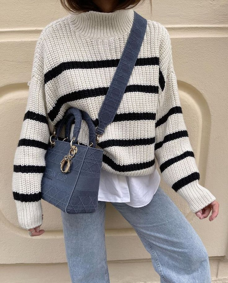 The Best Striped Sweaters Outfit Ideas