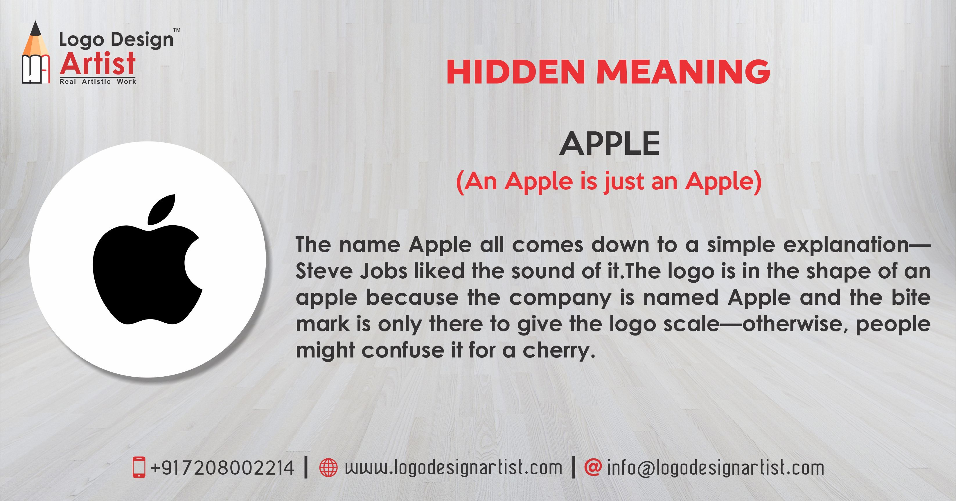 "HIDDEN MEANING BEHIND LOGO ""APPLE"" (An Apple is just"