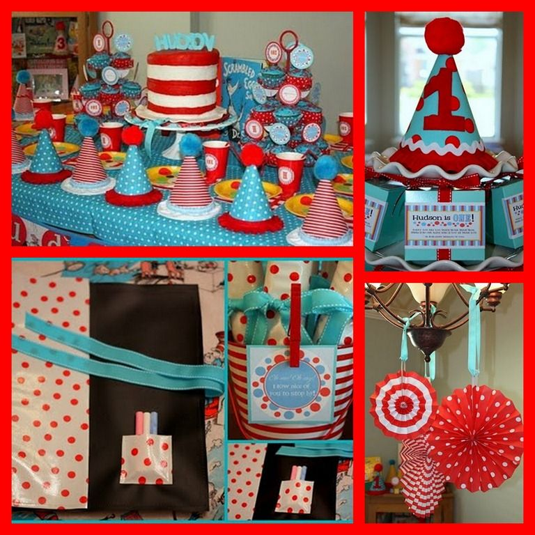 Cat in the hat inspired party dr seuss party ideas dr