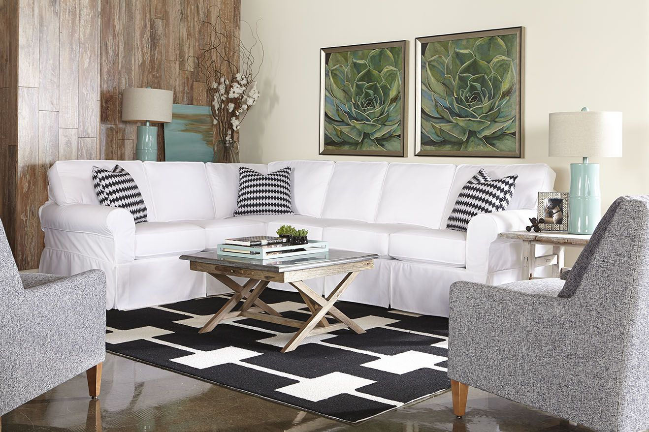 Rowe Masquerade Sectional Sofa Childrens Pull Out Collections Sectionals Slipcovered