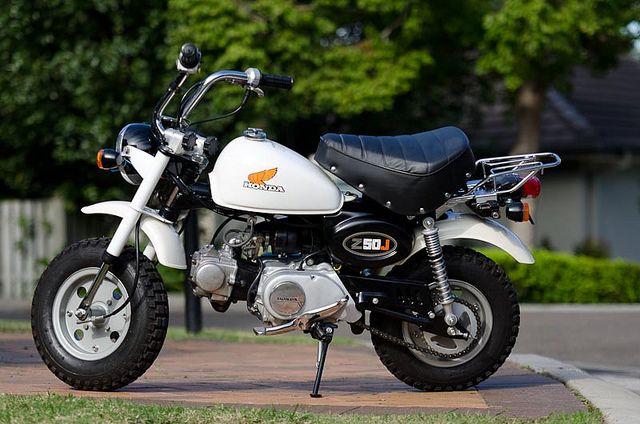 Honda Z50JZ. Original white.  Source: Flickr