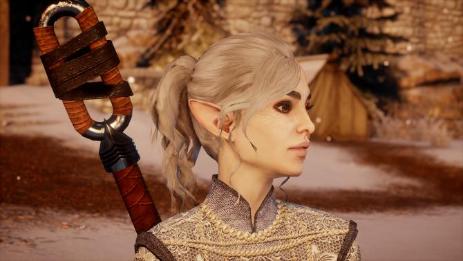Ponytail mod for female humans, female elves and female