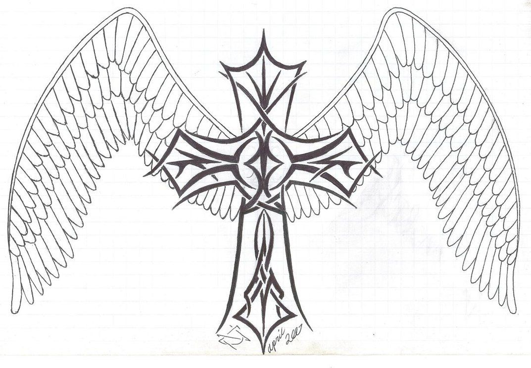 Hearts With Wings Coloring Pages Coloring Pages Cross With