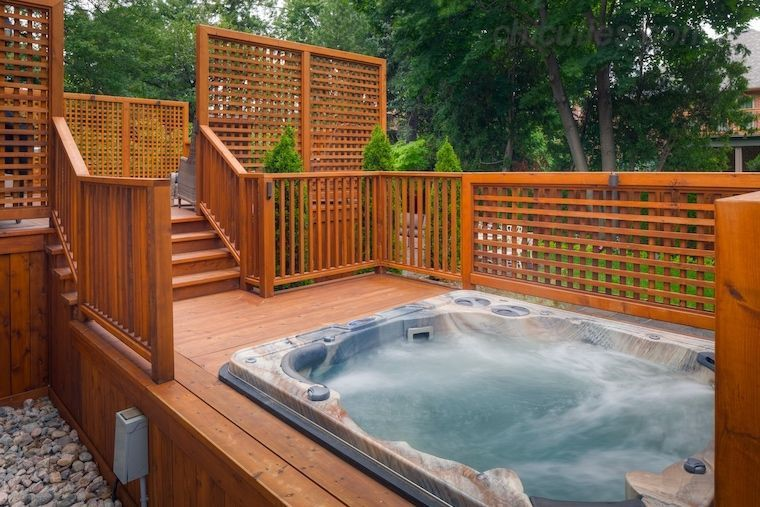 58 Stunning Garden Hot Tub Deck Design Ideas #hottubdeck 58 Stunning Garden Hot Tub Deck Design Ideas – Page 36 – Chic Cuties Blog #hottubdeck