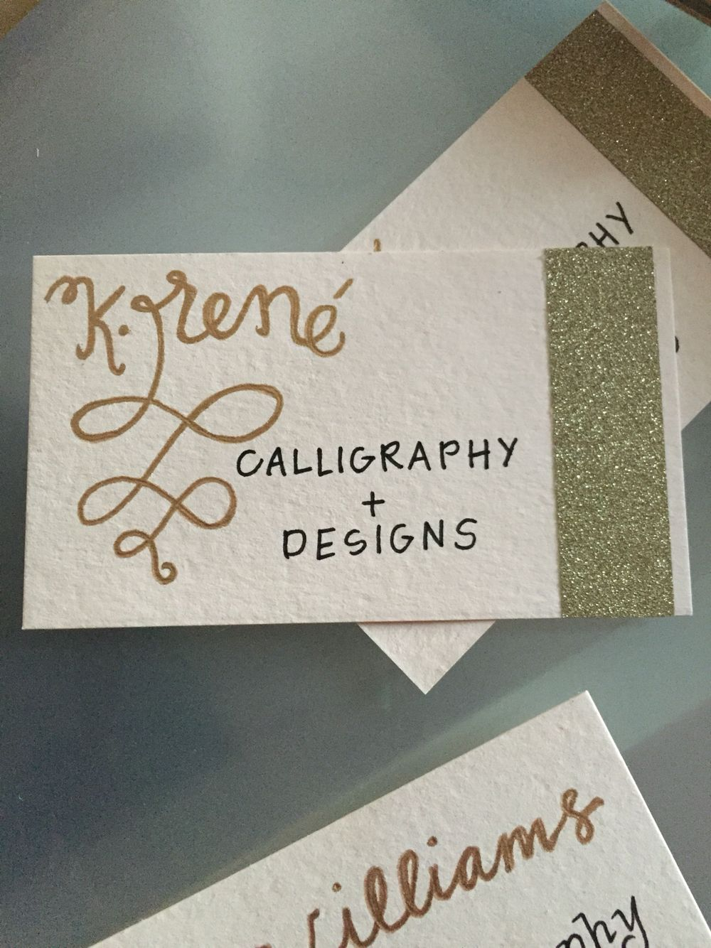 Hand Lettered Business Cards Paper Source Luxe Blush Business Card