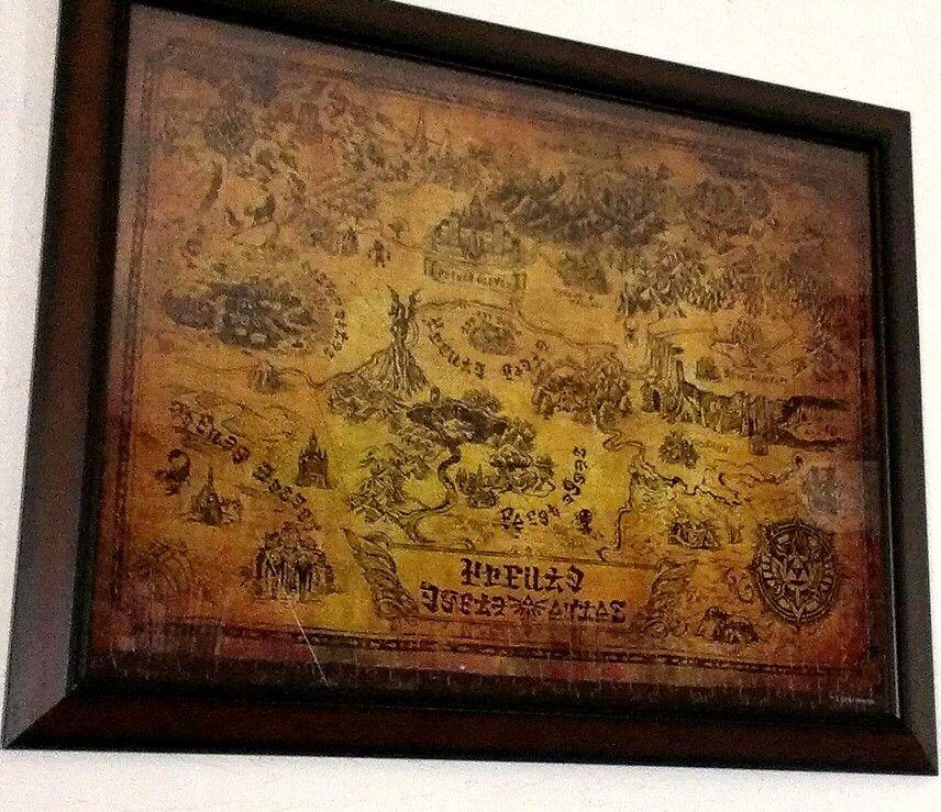 Legend of Zelda puzzle, antiqued map of Hyrule, bought on