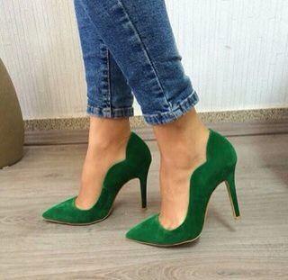 mejor amado ab9a4 ac19c stilettos verde esmeralda | Mayo - Esmeralda | Zapatos ...