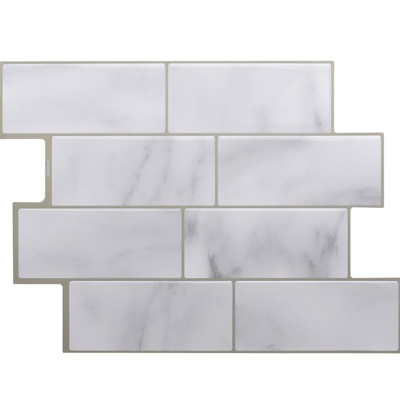 Peel And Stick Self Adhesive Wall Tile With Mosaic Effect For