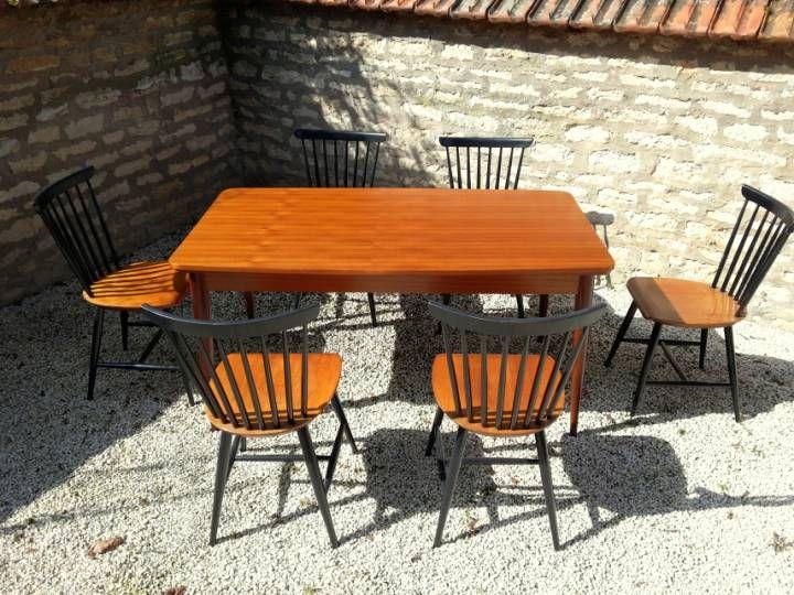 Table de Salle à Manger en Teck par Oswald Vermaercke pour V-Form