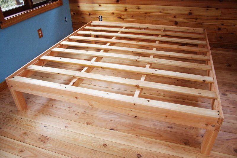custom king size solid wood platform bed frame locals only 36000 via - Wooden Platform Bed Frames