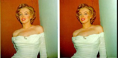 Marilyn Monroe Stereo Image Mm3d1 Programwitch Image Marilyn Monroe Eye Illusions
