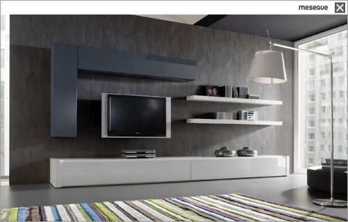 Like the idea of low lying cabinet for storage and - Tv storage units living room furniture ...