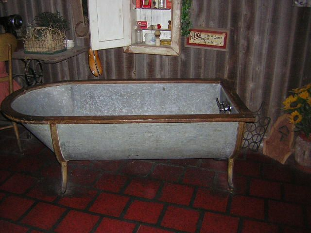 Old Metal Bathtub