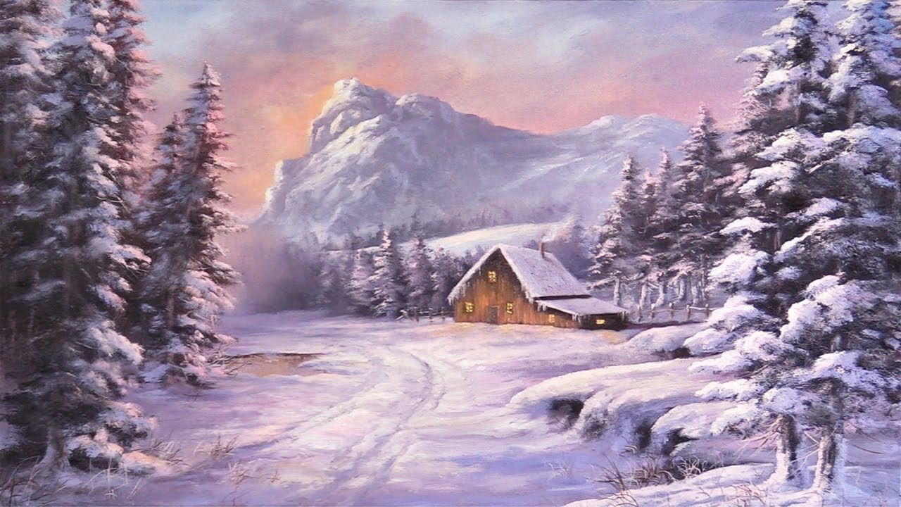 Do You Enjoy Winter Landscapes In This Short Painting Lesson Kevin Will Show You How To Landscape Painting Lesson Kevin Hill Paintings Oil Painting Landscape