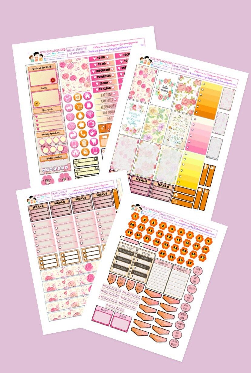 SPRING WEEKLY CLASSIC HP PRINTABLES | Free Planner Stickers