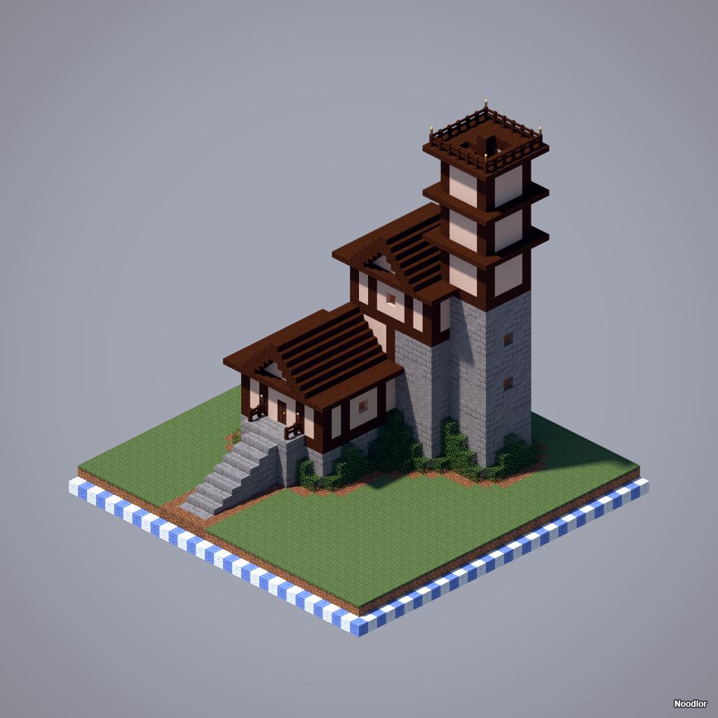 Fortified House | Minecraft, Minecraft häuser und Minecraft ideen
