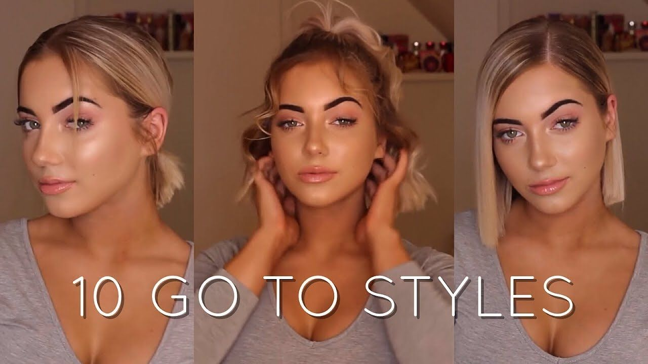 How I Style My Short Hair Beachy Undone Waves Using A Straightener Youtube How To Curl Short Hair Waves Hair Tutorial Short Hair Styles