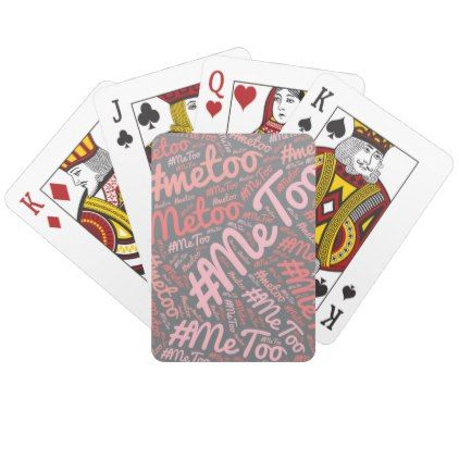Playing Cards Deck Of Cards Games Metoo Zazzle Com In 2021 Playing Card Deck Deck Of Cards Playing Cards