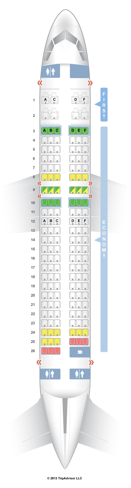 Seatguru seat map virgin america airbus   also travel rh pinterest