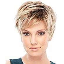 Coupe Courte Blonde Avec Meche. Affordable Cheveux Roses