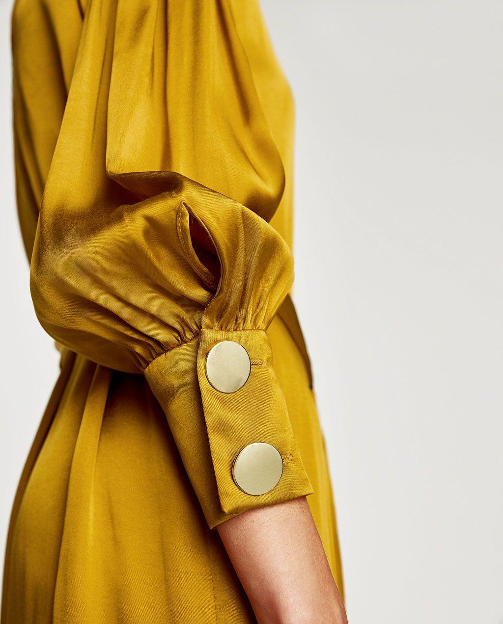 satin dress with belt-new in-woman   zara indonesia   zara