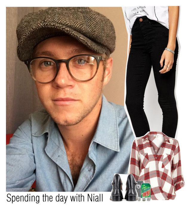 """""""Spending the day with Niall"""" by ndvalenciano ❤ liked on Polyvore featuring ASOS, River Island, OtterBox, Francesco Russo and Topshop"""