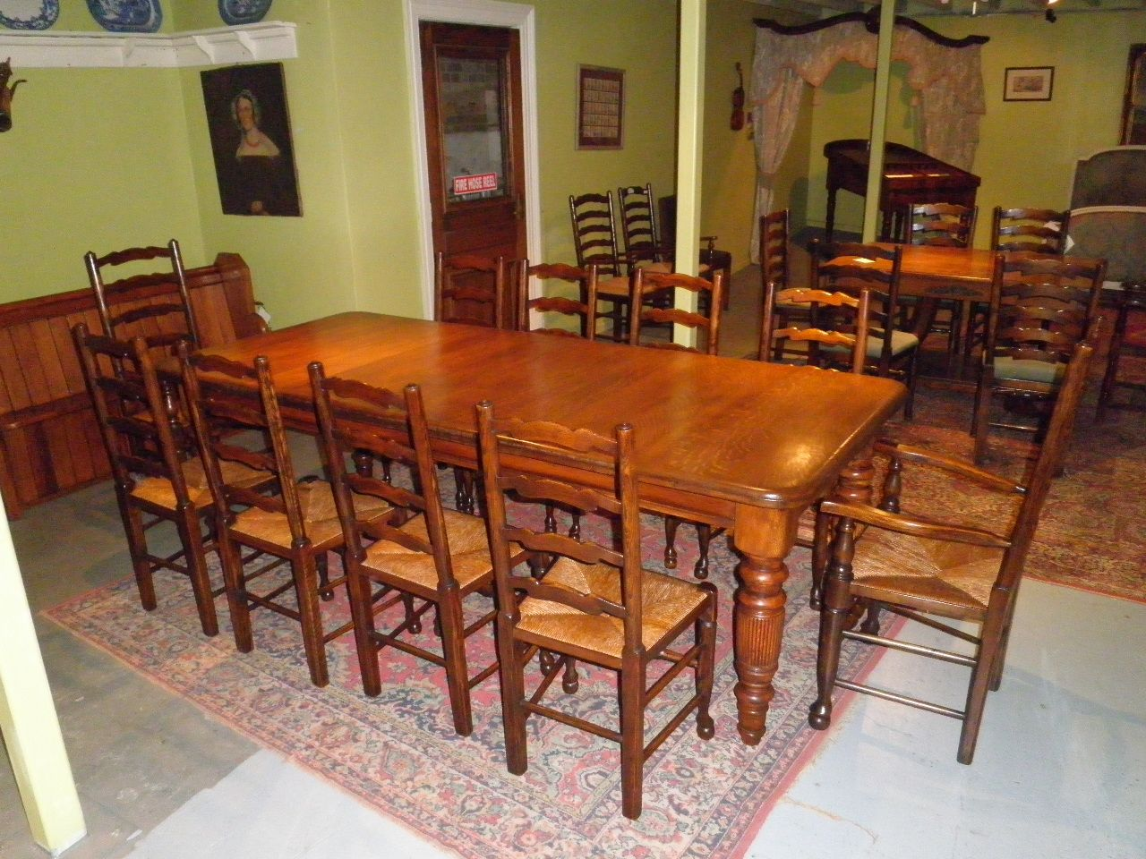 10 Superb Square Dining Table Ideas For A Contemporary: Superb Scottish Oak Antique Dining Table $3200 A