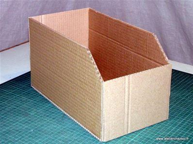 Tuto diy casier en carton casier assembl box pinterest casiers carton et tuto - Tuto meuble en carton ...